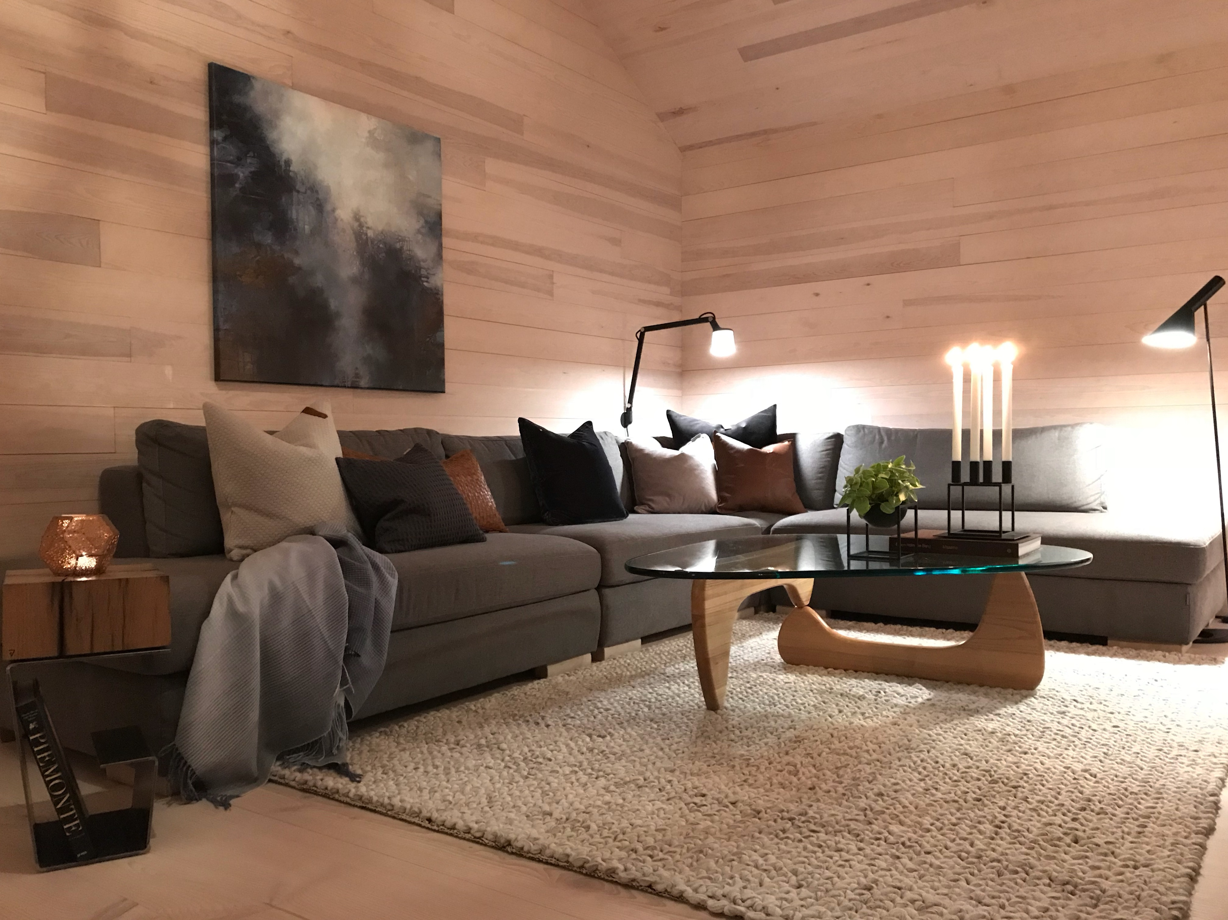 Inspirational Wooden Interior Decorated by Luxury Side Table