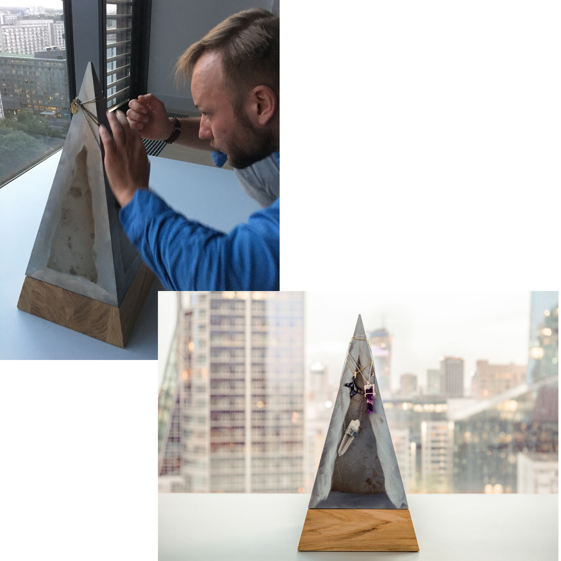 Luxury Pyramid Table - Artistic Sculpture or Modern Multifunctional Furniture