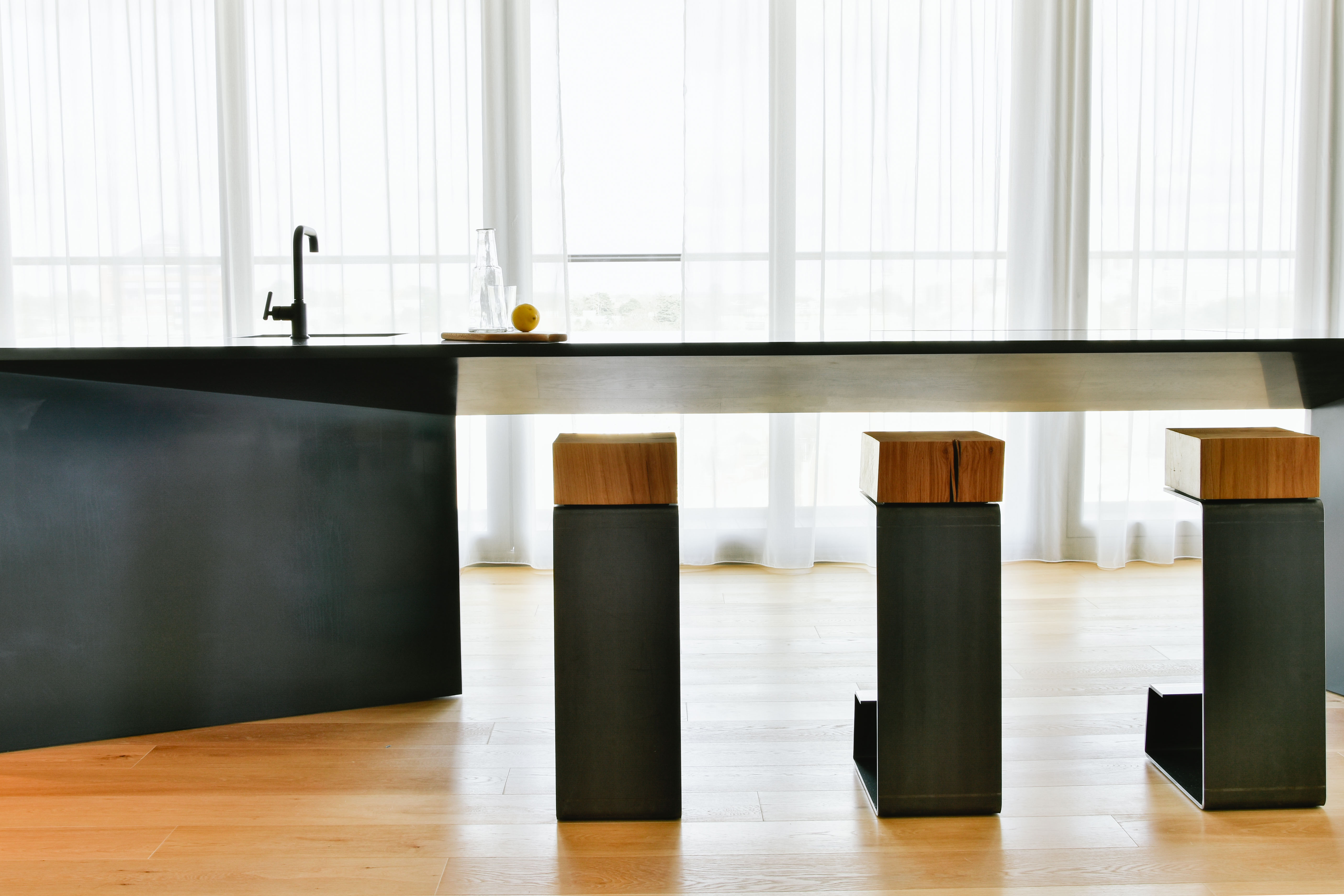 Modern THE LINE Bar Stool - Definition of Luxury Furniture Equipment