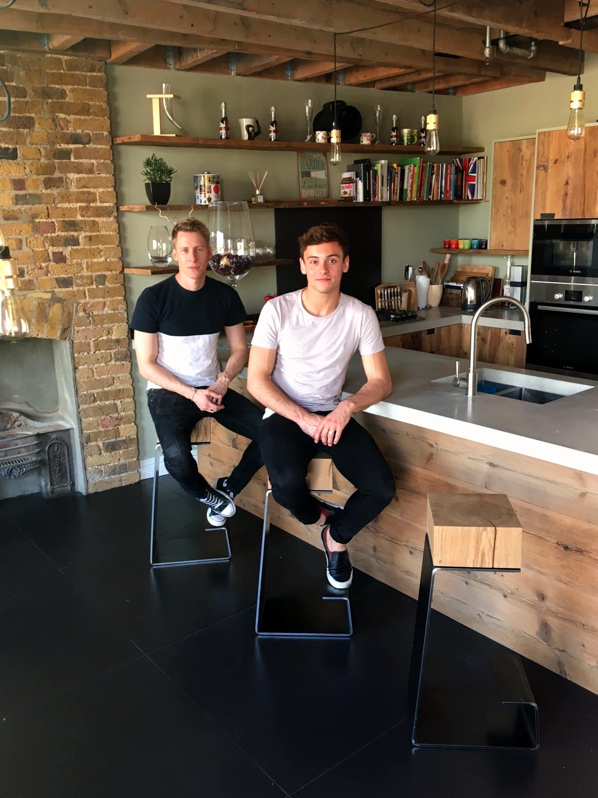Loft Style Interior Inspiration by Tom Daley and Daniel Lance Black
